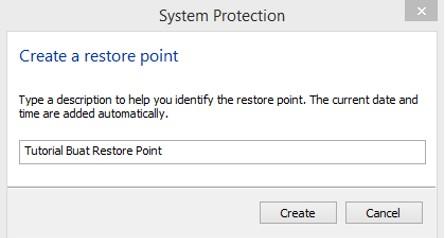 deskripsi dari system restore point
