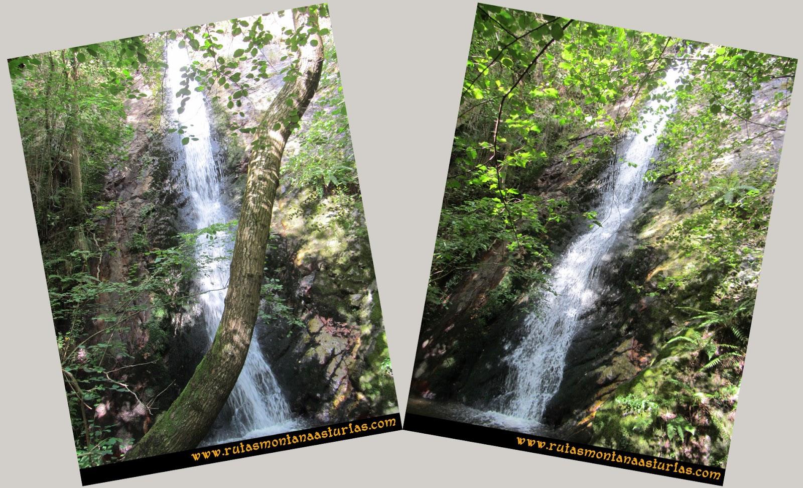 Ruta Cascadas Guanga, Castiello, el Oso: Primera cascada