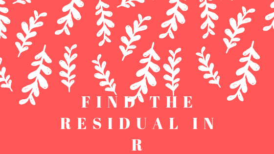 find the residual in R
