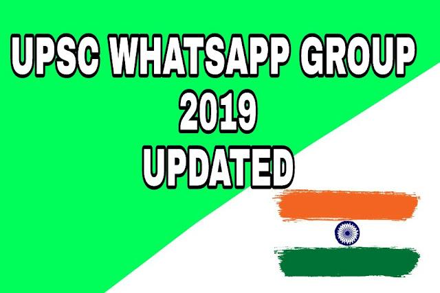 Upsc whatsapp groups 2109