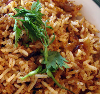 Swahili Onion Fried Rice.