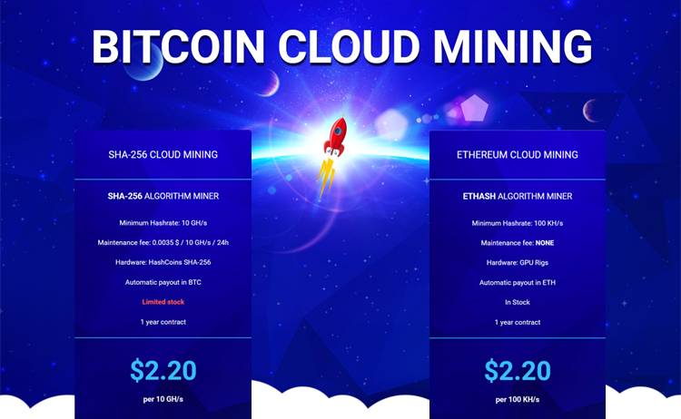 cloud mining bitcoin and ethereum