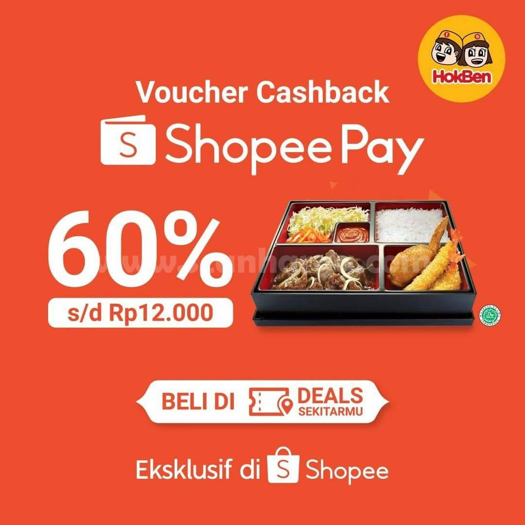 HOKBEN Promo Voucher Cashback ShopeePay Deals 60%