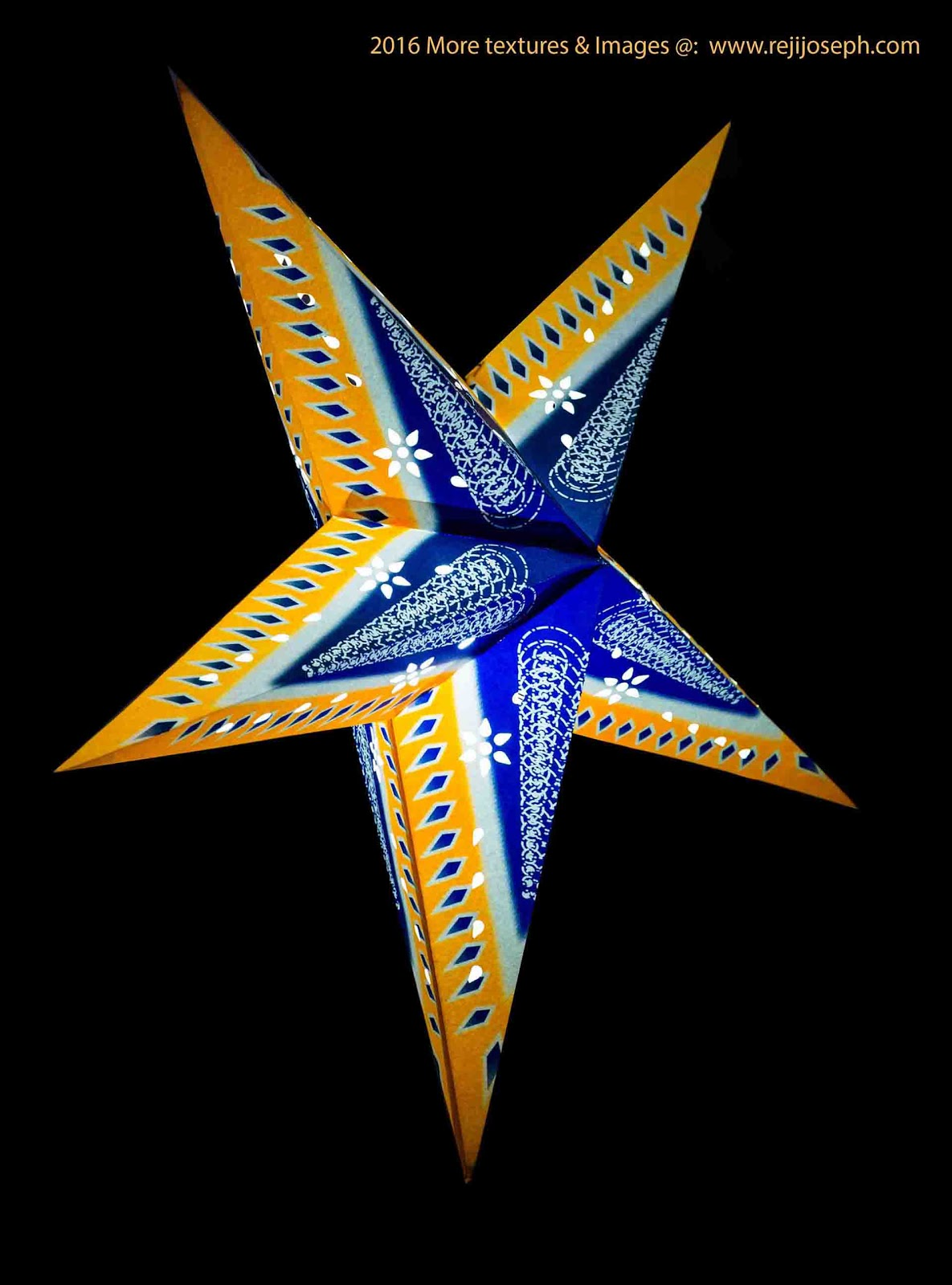 Christmas star Illumination light decoration 00011