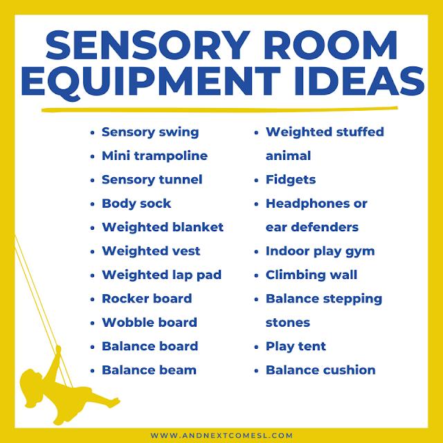 Sensory room equipment and furniture ideas