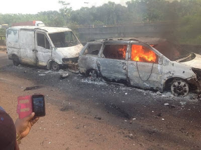 53 Burnt To Death In Benin-onitsha Auto Crash [Very Graphic]