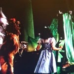 Dorthy and the Wizard of Oz curtain