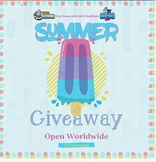 image shows a popsicle Text reads Summer WorldWide Giveaway