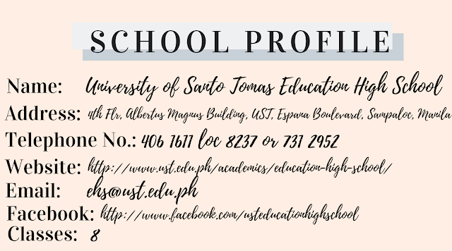 University of Santo Tomas Education High School (UST-EHS) Profile
