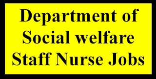 Department of Social welfare Staff Nurse Jobs