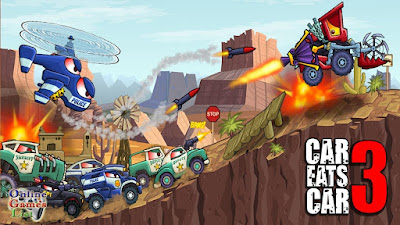 لعبة سباق السيارات المسلية Car Eats Car 3 مهكرة للأندرويد آخر إصدار