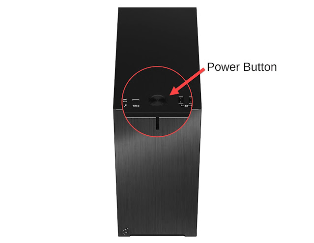 Fractal Design Define R5 jammed power button