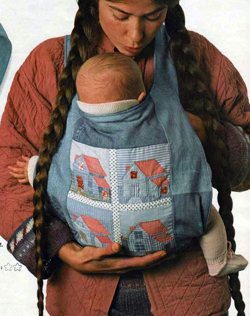 The Vintage Pattern Files: Free 1970's Sewing Pattern - Je porte bébé / Baby Carriers