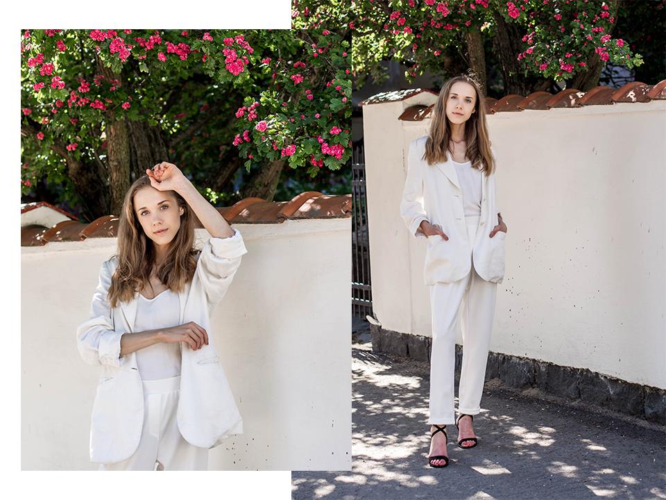 White suit outfit for summer - Valkoinen housupuku kesään