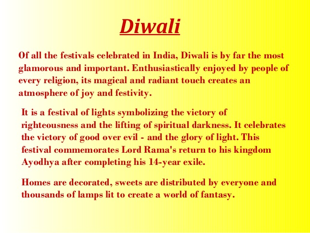 small essay on diwali