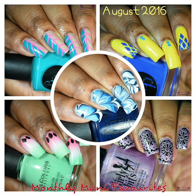 August 2016 Monthly Mani Favourites