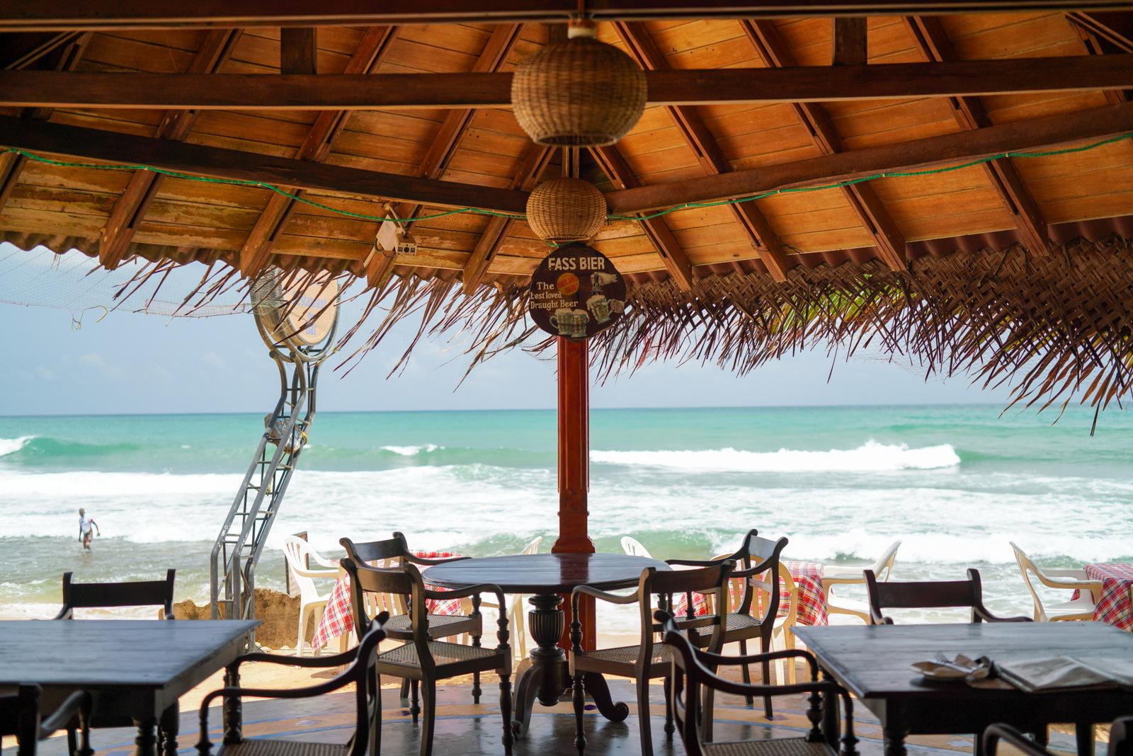 hikkaduwa beach seafood, sri lanka