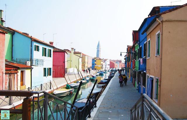 Isla de Burano en Venecia
