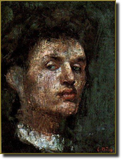 Эдвард Мунк - Автопортрет. 1886