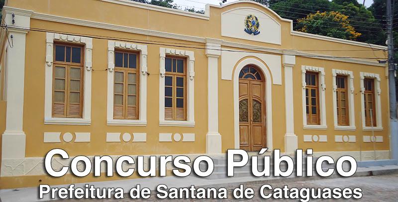Edital - Processo seletivo Prefeitura Santana de Cataguases MG 2017