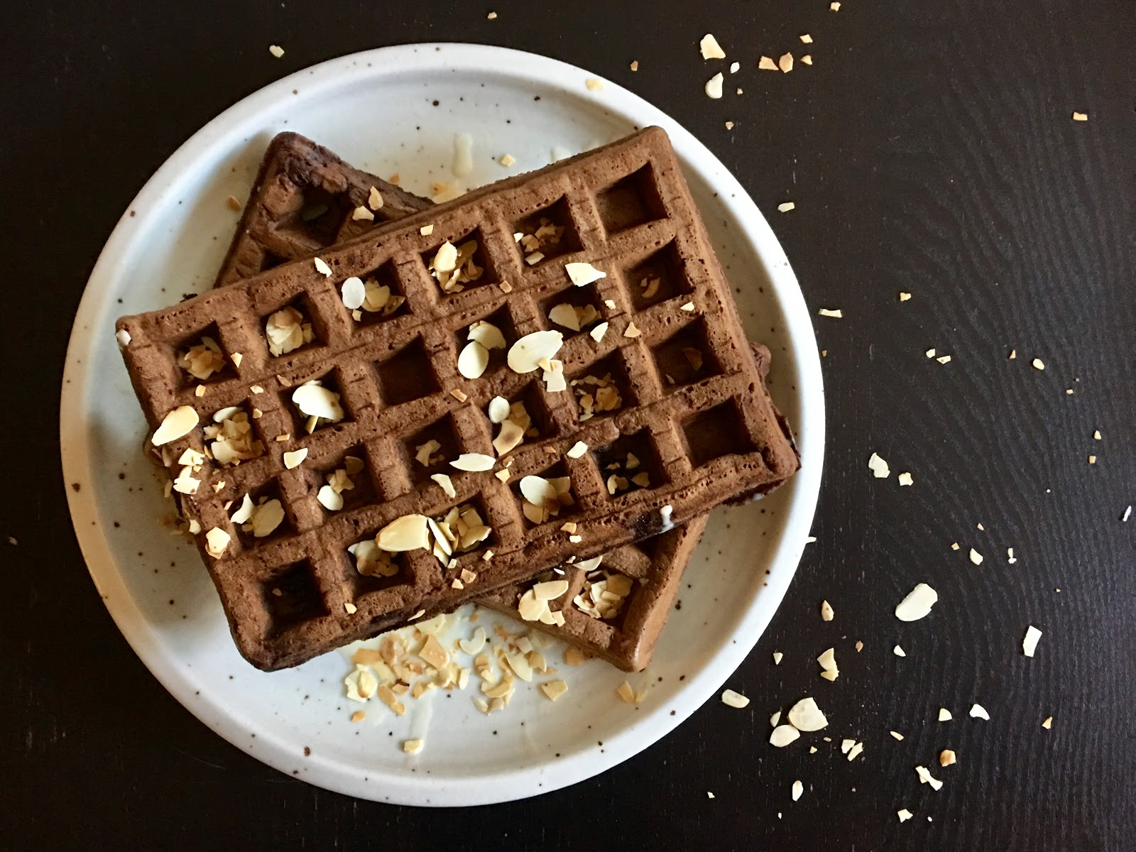 Fueling with Flavour: Dark Chocolate Waffles
