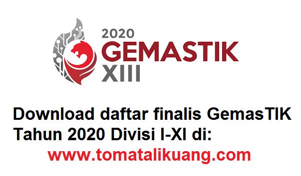 daftar finalis gemastik tahun 2020 divisi I II III IV V VI VII VIII IX tomatalikuang.com