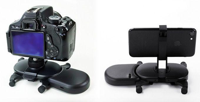 На Muwi можно установить смартфон или фотоаппарат