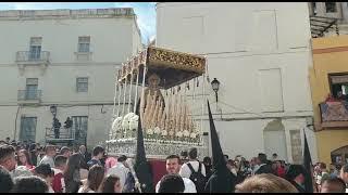 María Santísima de la Salud por la Plaza Fray Félix en la Semana Santa de Cádiz 2019