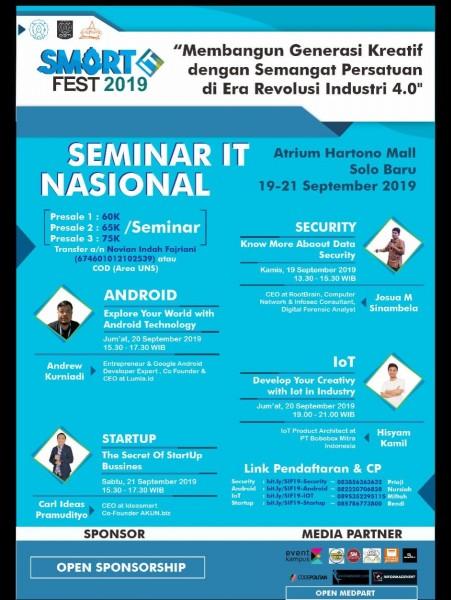 Seminar IT Nasional Universitas Sebelas Maret Terbaru 2019