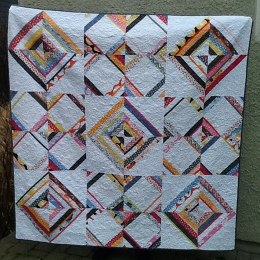 Madrona Road String Quilt Designed by Lucie Summers using Summersville fabric collection by Moda