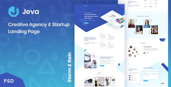 Best Creative Agency & Startup Landing Page Theme