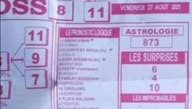 Pronostics quinté pmu vendredi Paris-Turf TV-100 % 27/08/2021