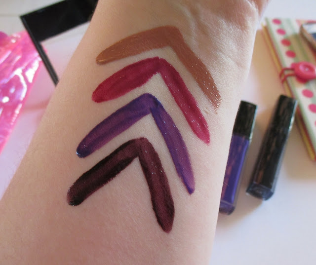 Maybelline Vivid hot lacquers swatches