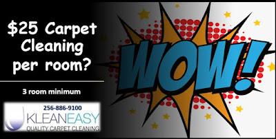 3 Room Carpet Cleaning Special Huntsville Al