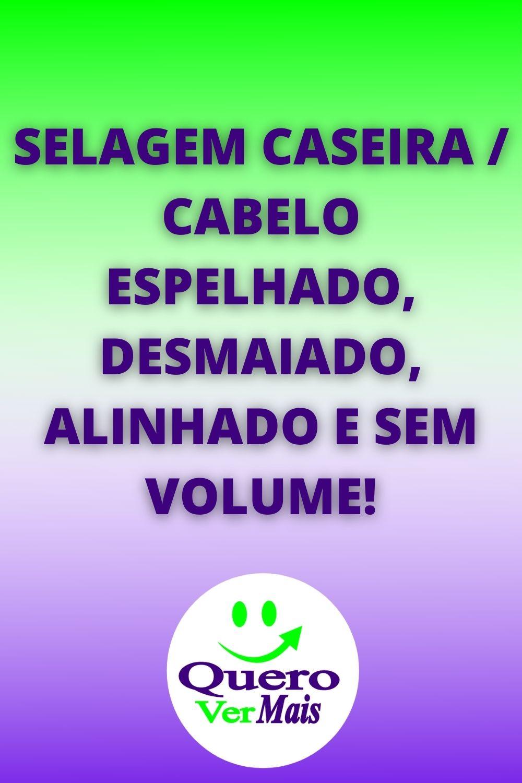 SELAGEM CASEIRA / CABELO ESPELHADO, DESMAIADO, ALINHADO E SEM VOLUME!