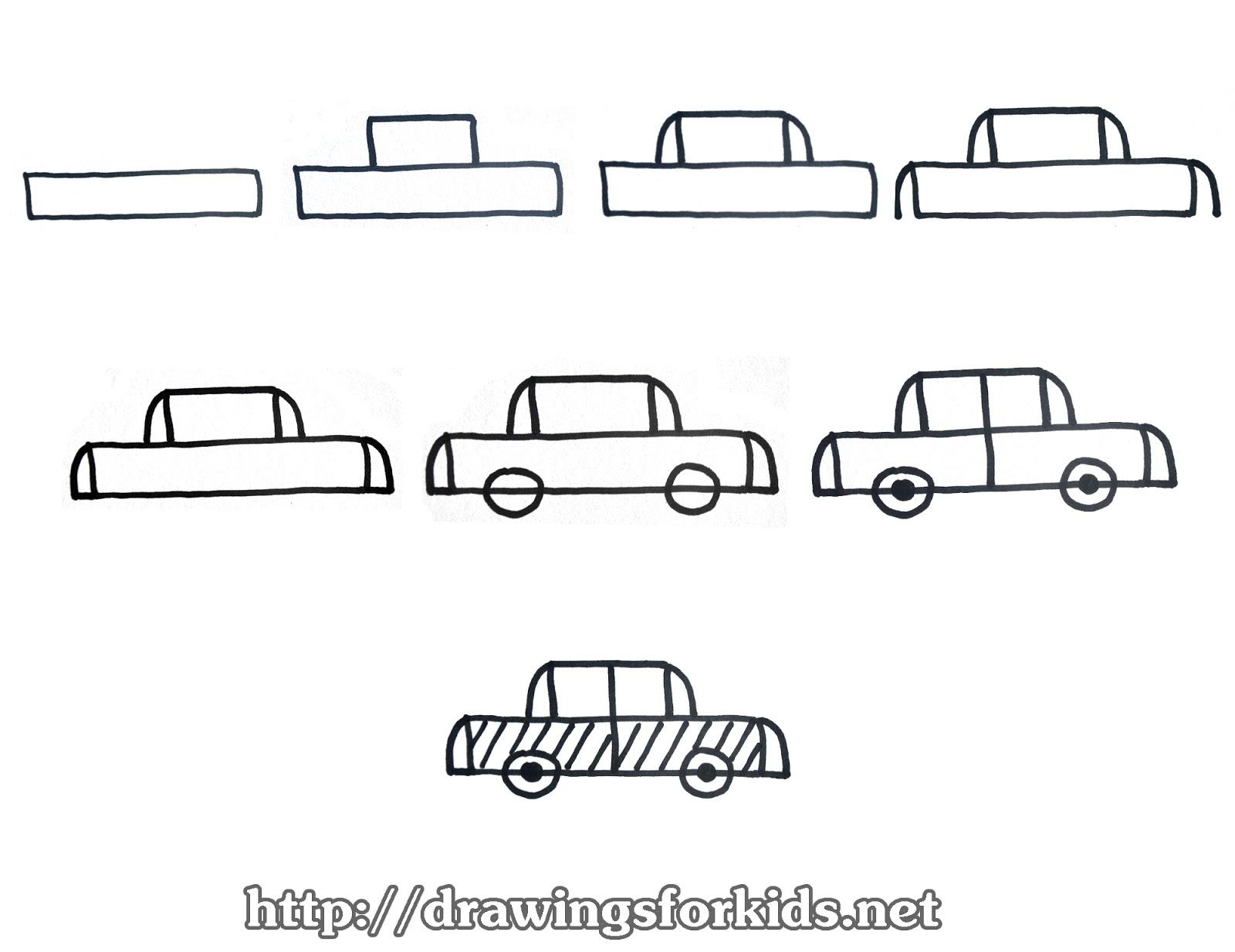 how to draw a car step by step hng dn cc b v xe t con tng bc mt