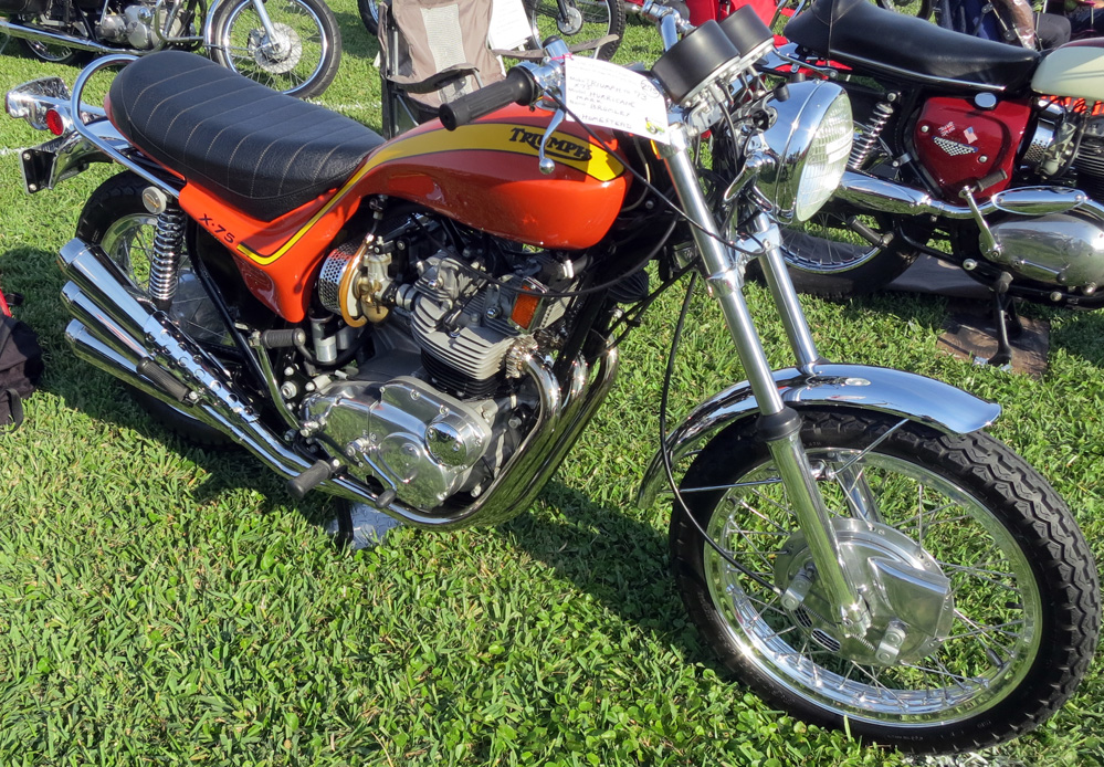 1973 Triumph motorcycle.
