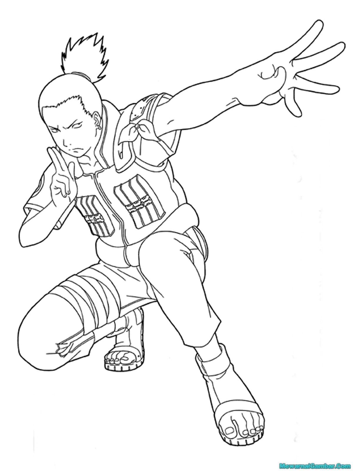 Mewarnai Gambar Ninja Desa Konoha