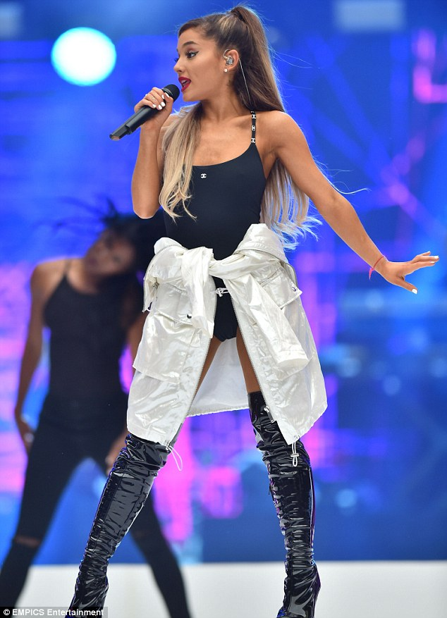 Ariana Grande put on a racy display for her performance at Captial FM's Summertime Ball on Saturday
