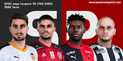 SmokePatch20 v2 faces for pes2020