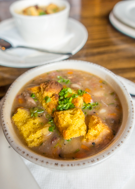 Smoked Ham & Bean Soup at Prohibition Kitchen - Where to Eat in St. Augustine, Florida - we found several hidden gems in St. Augustine that you MUST try on your next trip. Pizza, Burgers, Sandwiches, Craft Cocktails, and CRAZY milkshakes! Something for everyone!!