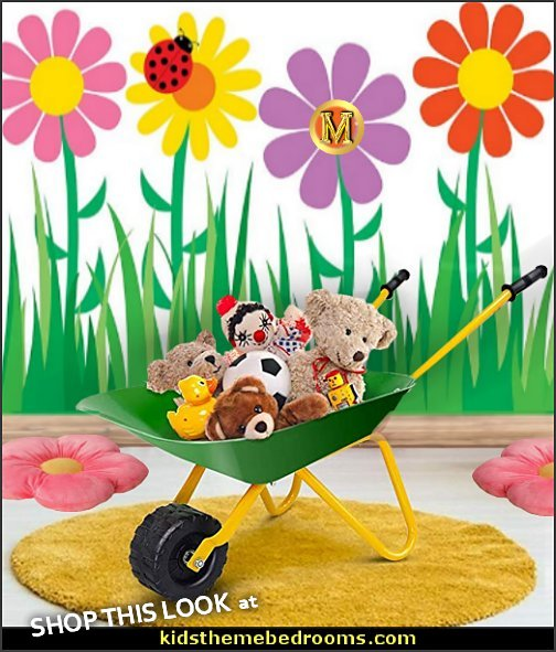 Garden themed playrooms  Garden themed decor  flower garden themed Rooms for Kids