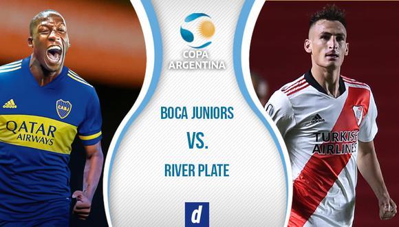Boca vs. River juegan EN VIVO por octavos de por la Copa Argentina 2021