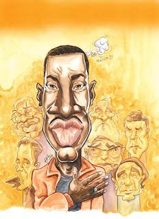 Caricature d'Abd al Malik pour Fakir. ©Guillaume Néel
