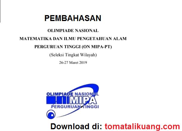 pembahasan knmipa onmipa pt matematika tahun 2019 tingkat regional wilayah; tomatalikuang.com
