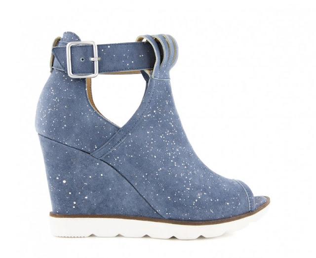 BADURA - botki, sneakersy niebieskie.