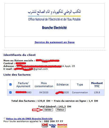 Fatourati - règlement facture ONE