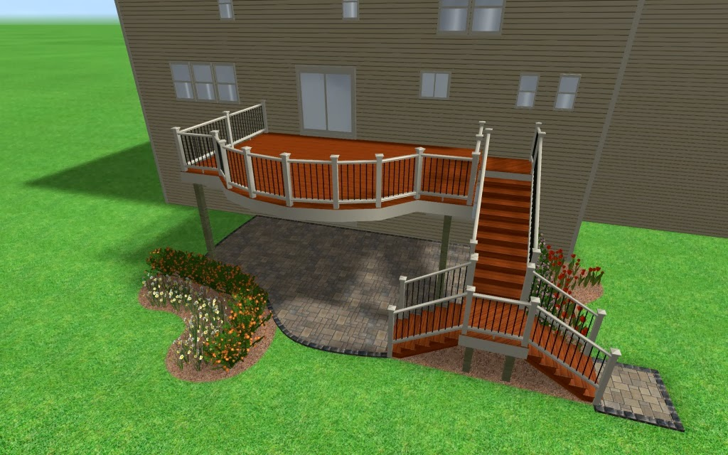 Outdoor Living: Deck designs from 2013 - Adding flair to a ... on Walkout Patio Ideas id=97036