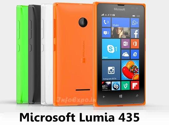 MicrosoftLumia 435: Cheap 4 inch,1.2GHz dual core Windows 8.1 Smartphone Specs, Price