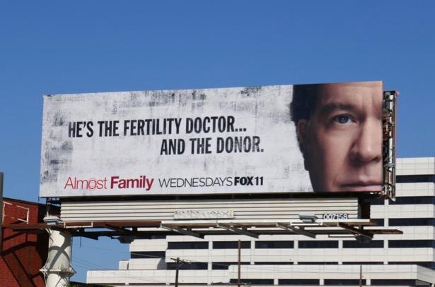 Almost Family series premiere billboard